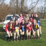 Gayle and the University of Maryland Equestrian Team.